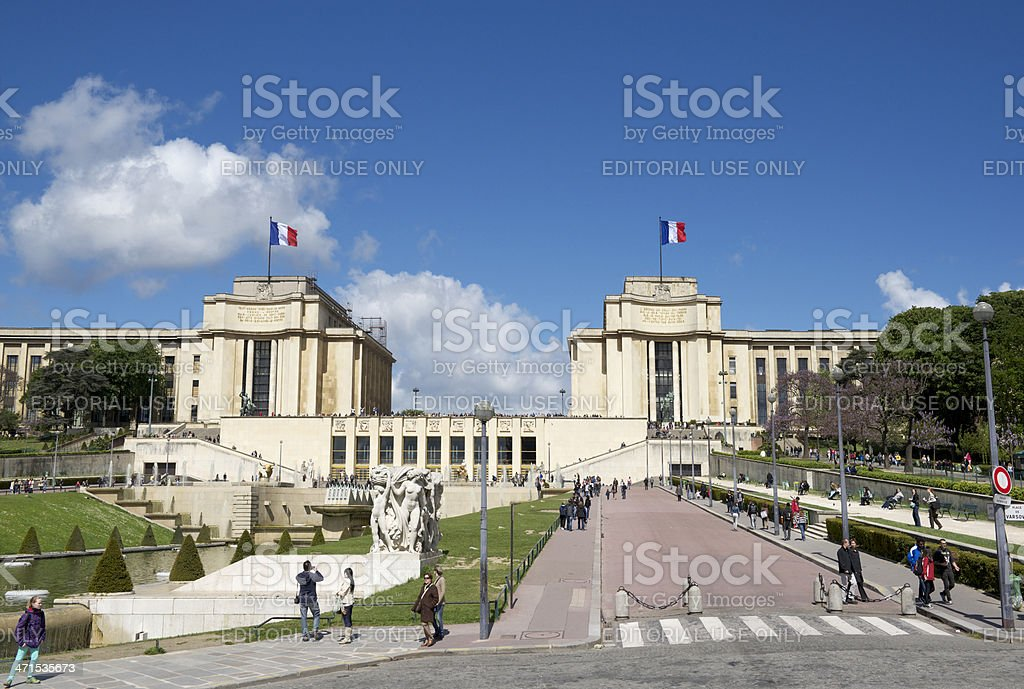 People in the Place de Varsovie (Paris, France) stock photo