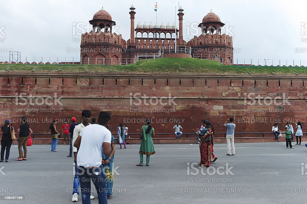 People in The Red Fort royalty-free stock photo