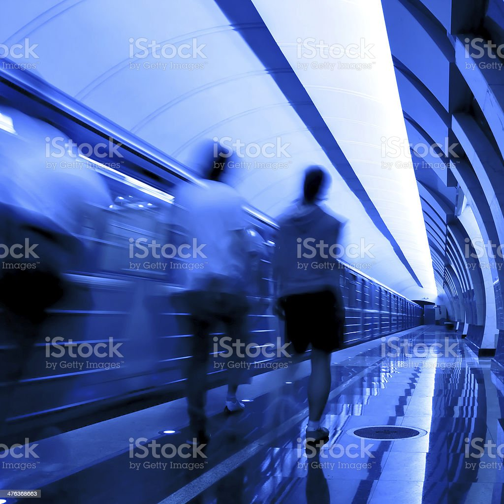 people in the subway station royalty-free stock photo