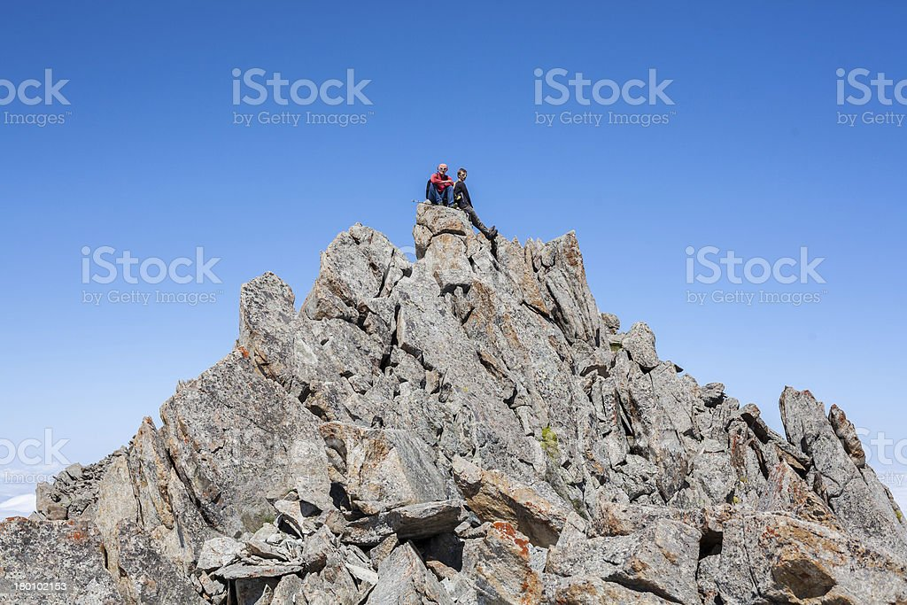 people in those mountains who won himself royalty-free stock photo