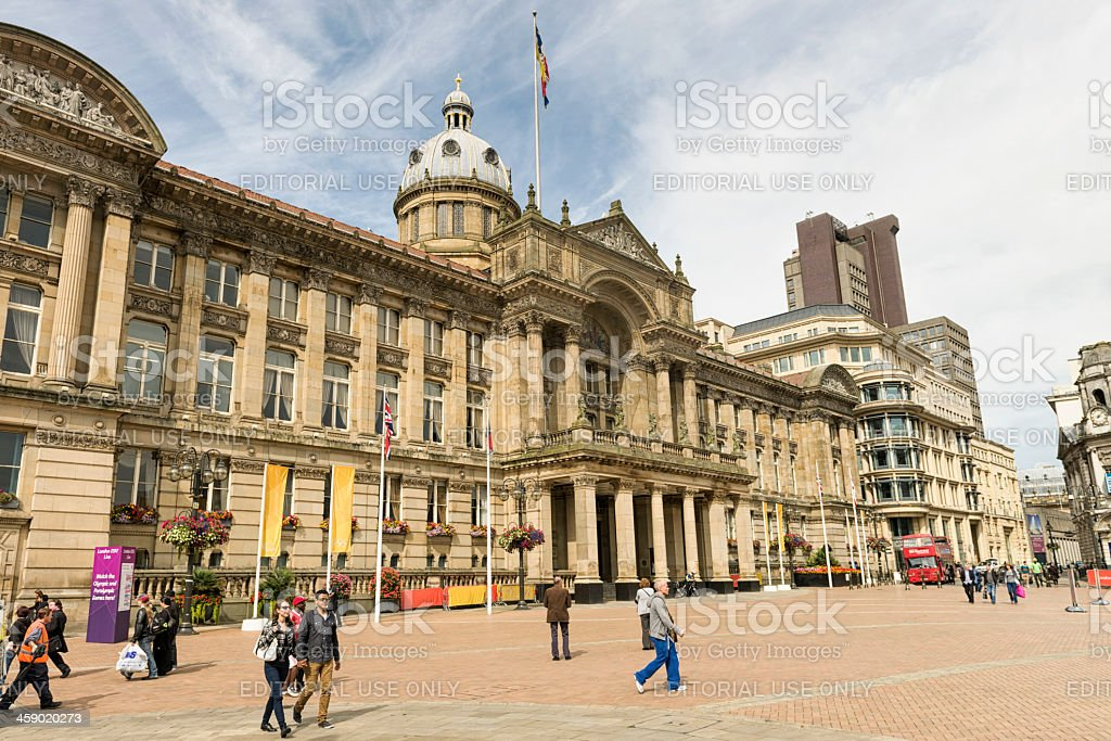People in Victoria Square, Birmingham royalty-free stock photo