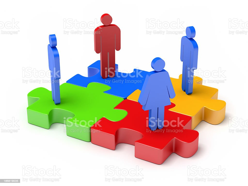 people Jigsaw Puzzle stock photo