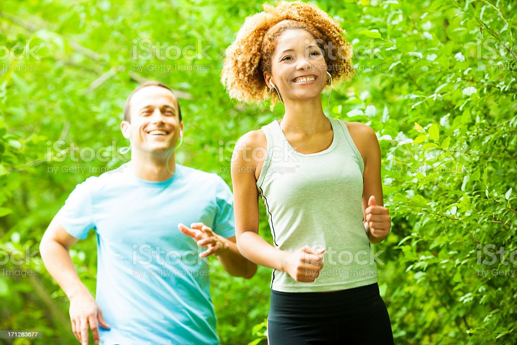 People Jogging Outdoors. stock photo