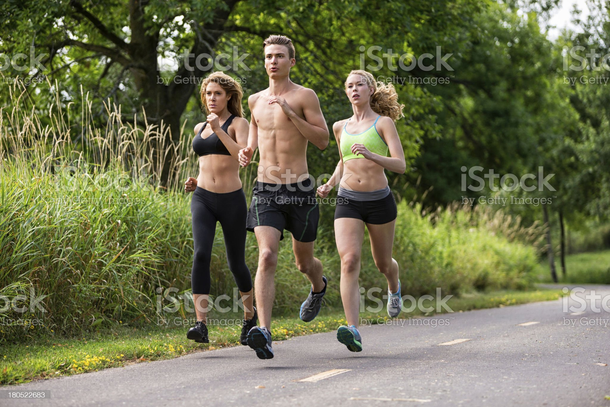 People Jogging royalty-free stock photo
