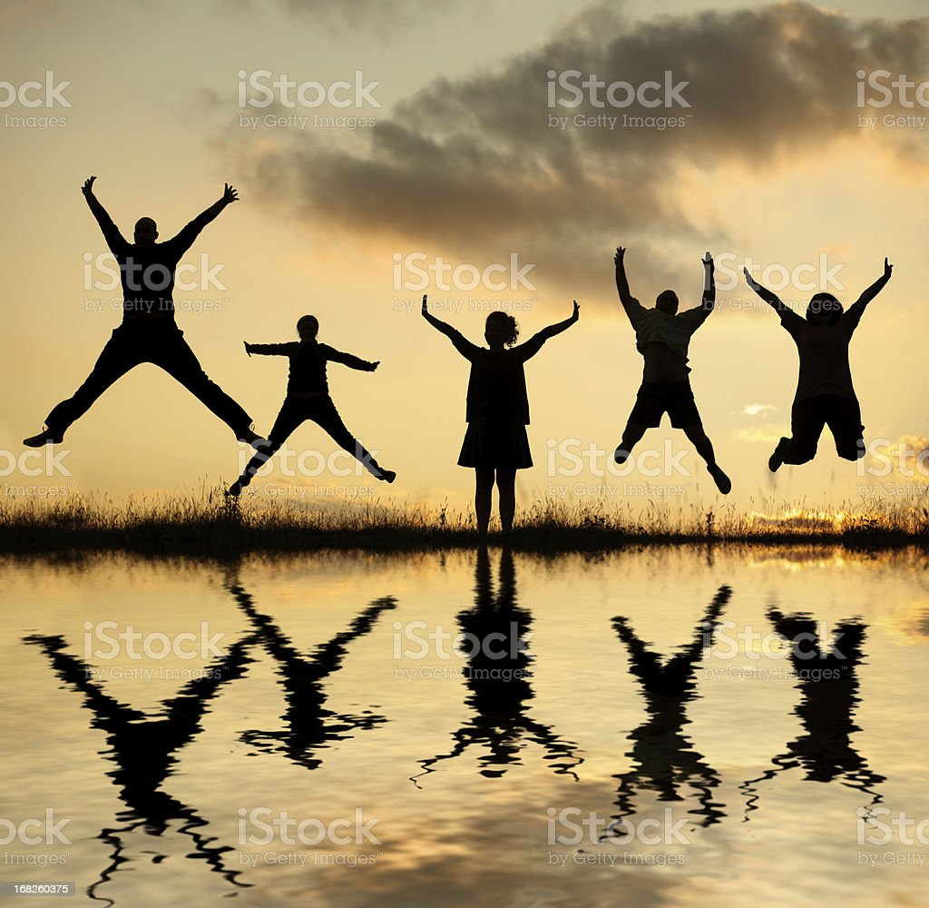 people jump royalty-free stock photo