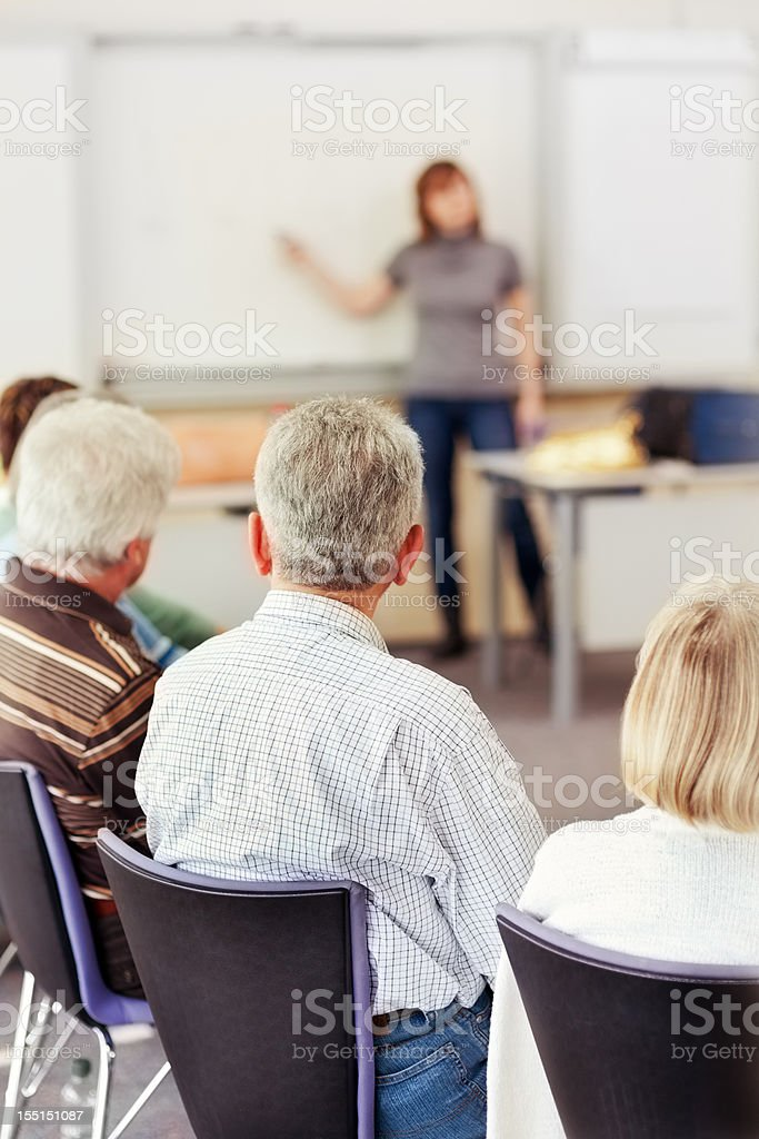 People Listening to Lecture royalty-free stock photo