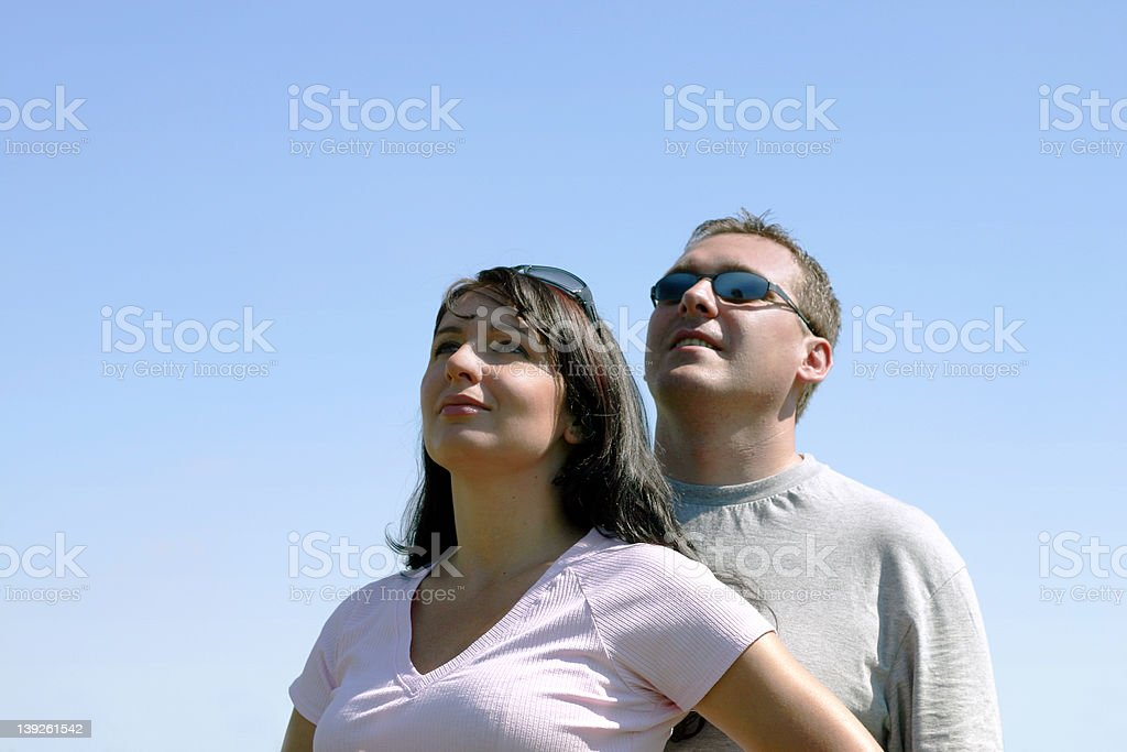 People - Look in future royalty-free stock photo