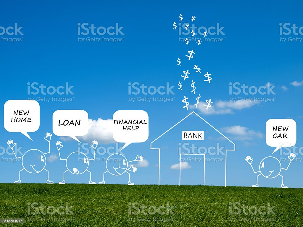 people looking for financial help stock photo