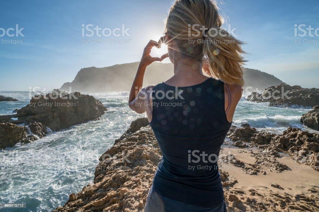 People loving nature stock photo