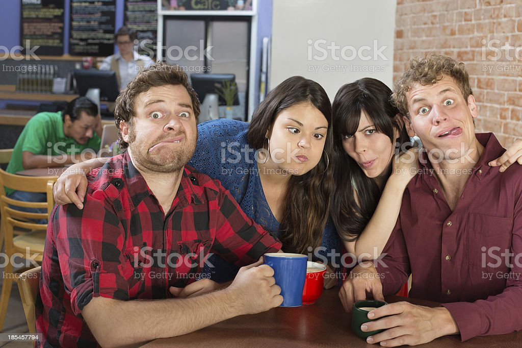 People Making Faces stock photo