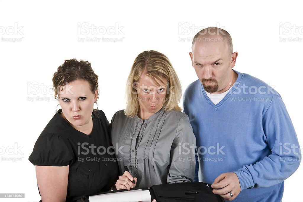Menschen machen lustige Gesichter Lizenzfreies stock-foto