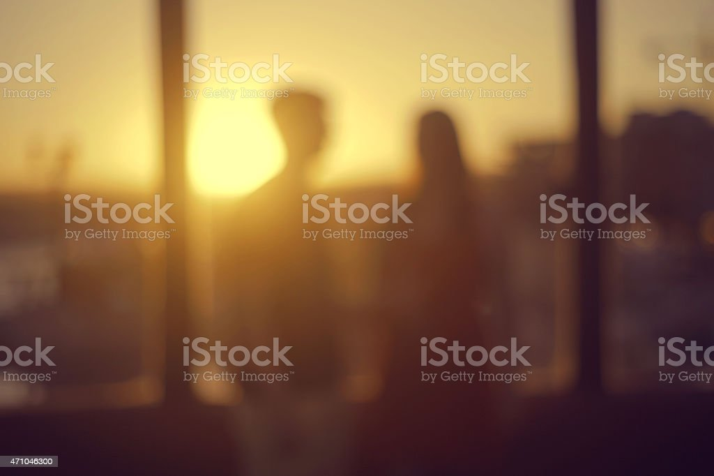 People meeting dating each other artsy out of focus party. royalty-free stock photo