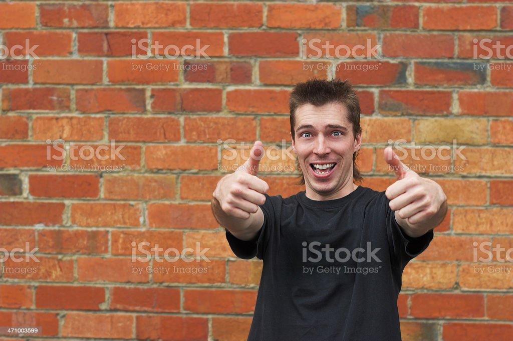 People: mullet man 2 stock photo