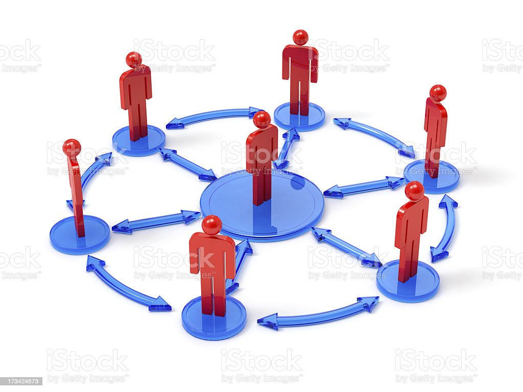 People network concept royalty-free stock photo
