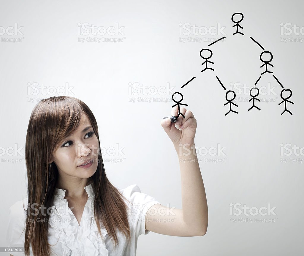 People Network royalty-free stock photo