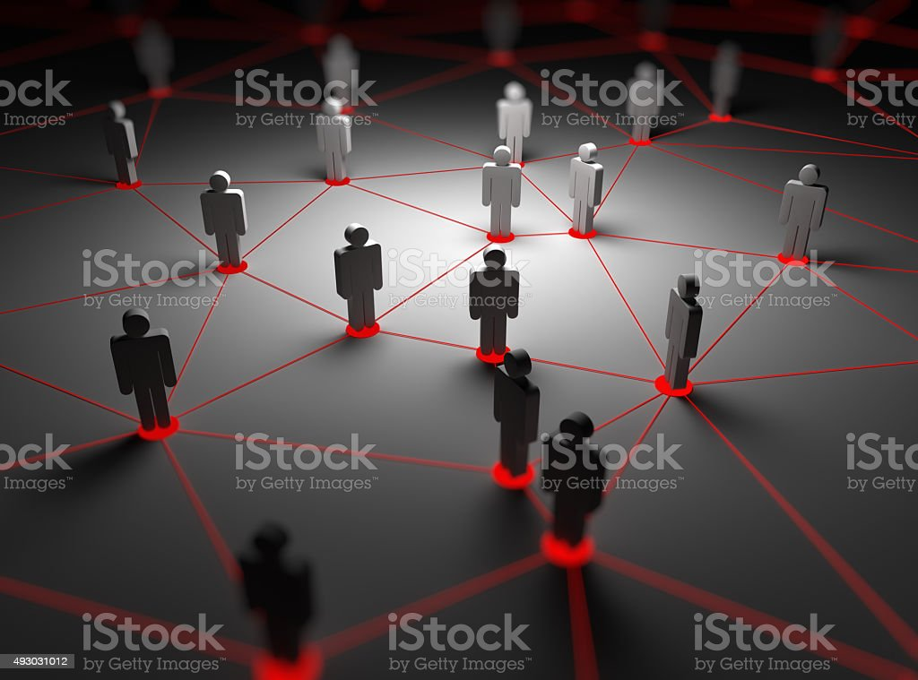 People network stock photo