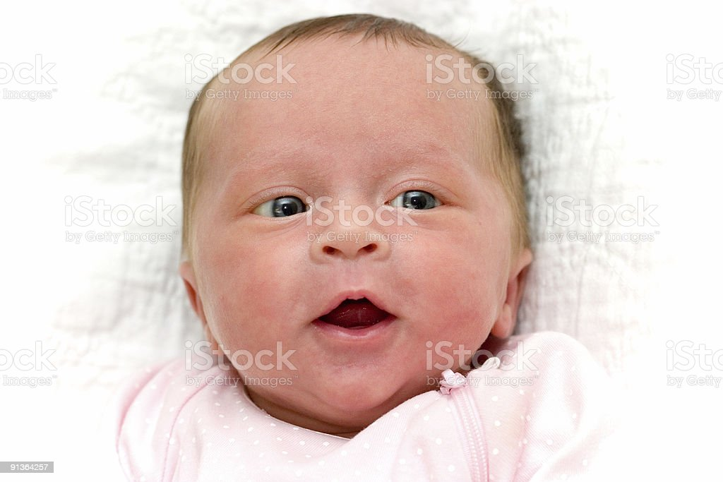 People - Newborn Happy Baby stock photo