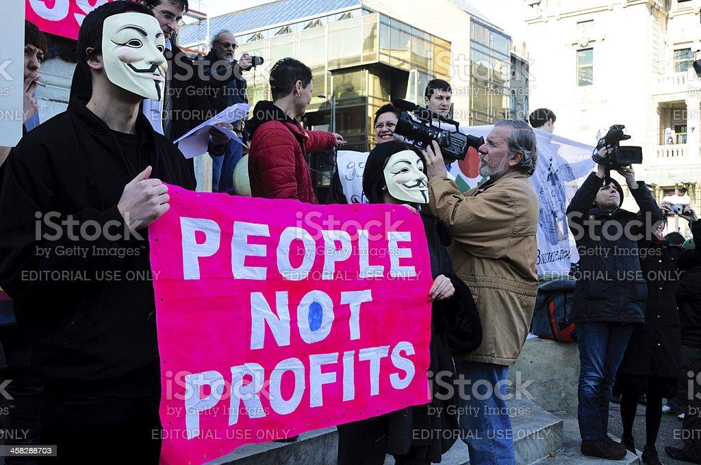 People not profits stock photo