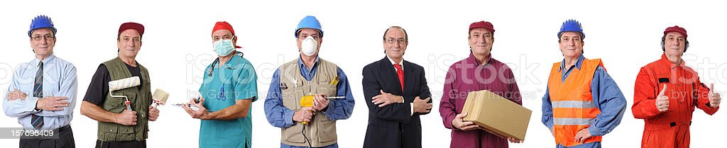People Occupation Collection royalty-free stock photo