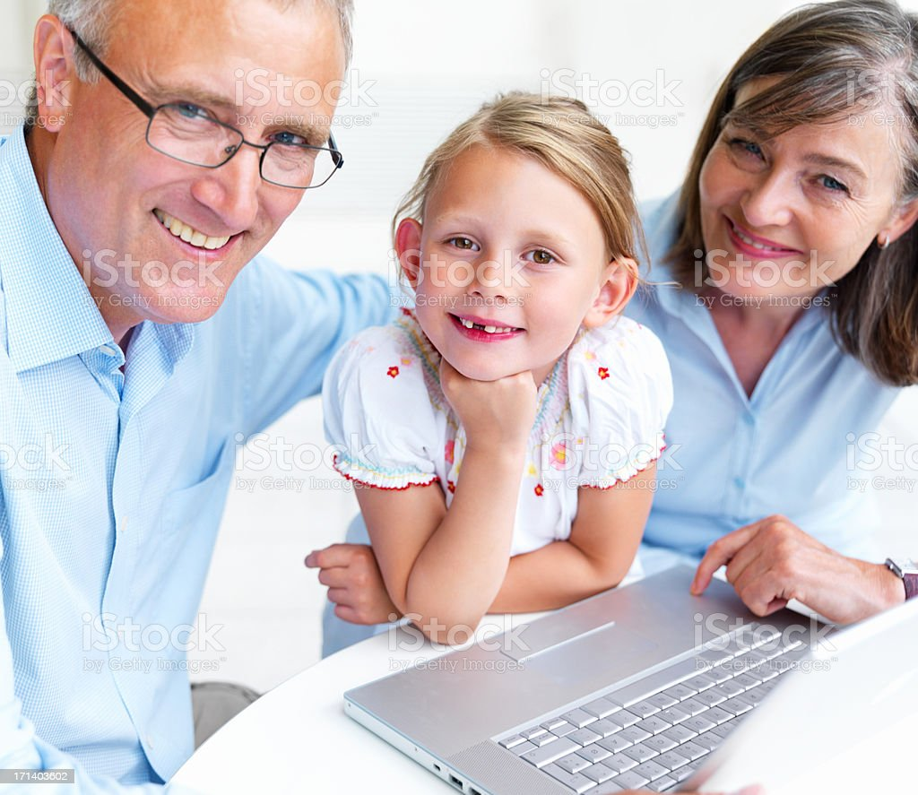 People of all ages can enjoy technology royalty-free stock photo