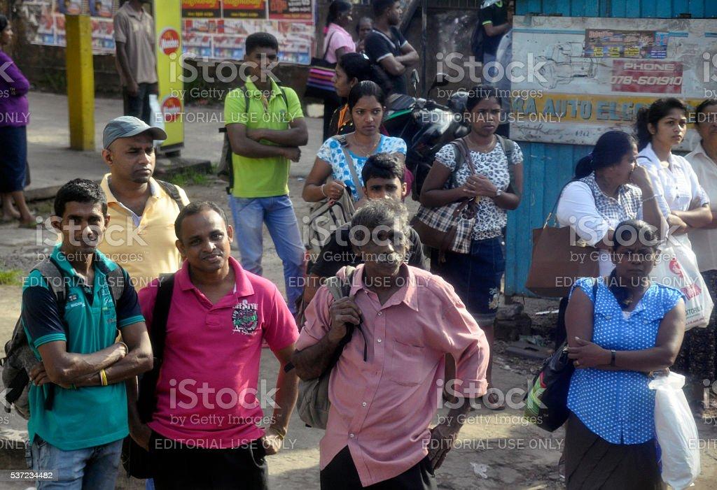 People of Sri Lanka stock photo