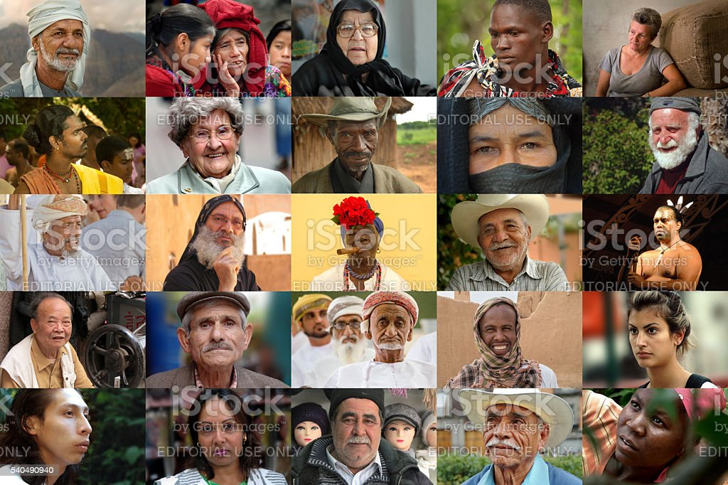 People of the world - collage stock photo