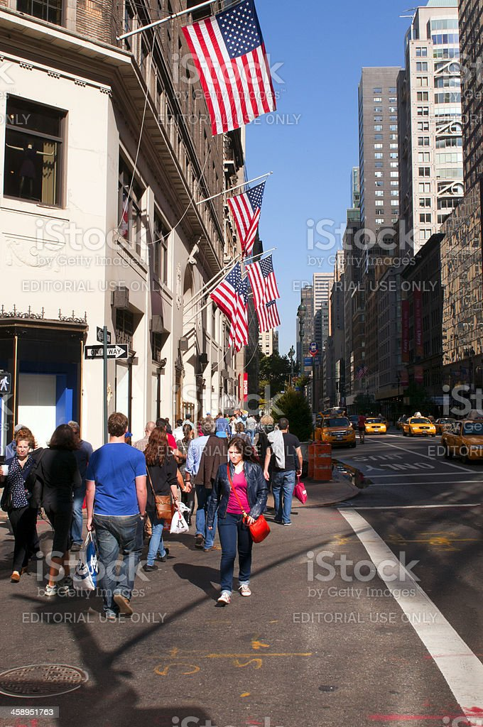 People on 5th Avenue,  Manhattan, New York City, USA royalty-free stock photo