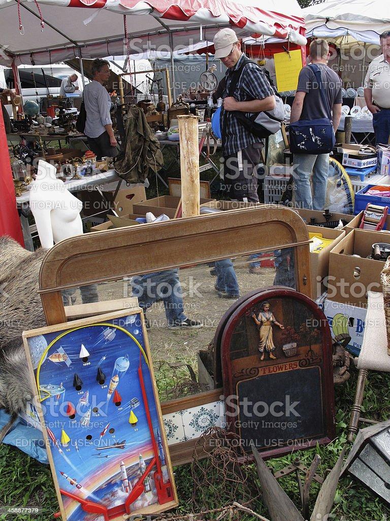 People on a flea market royalty-free stock photo