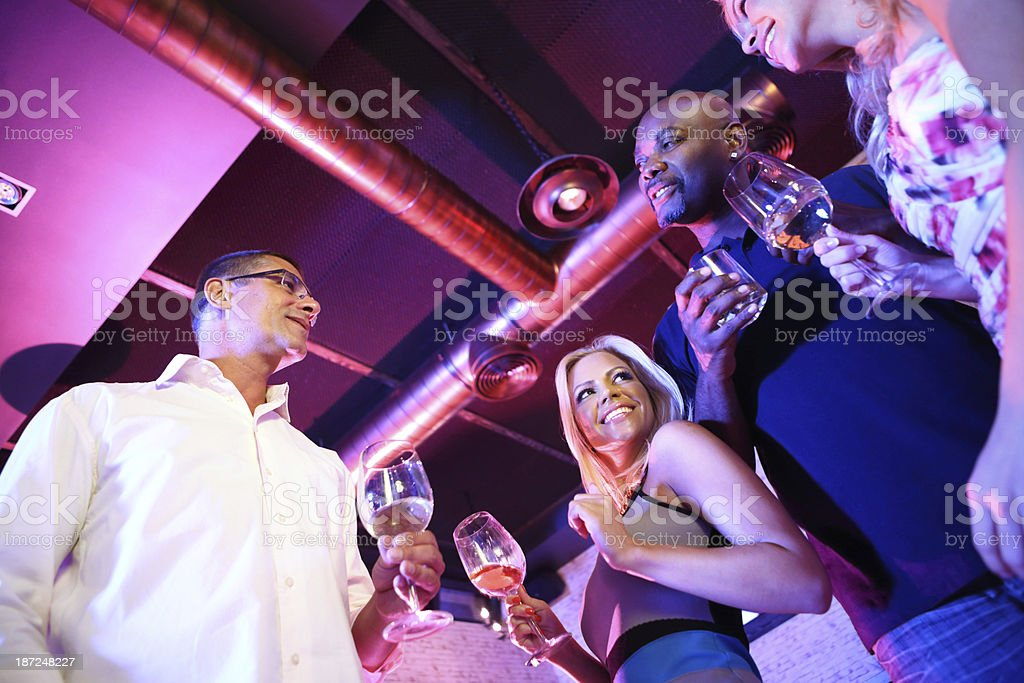 People on a night out. royalty-free stock photo