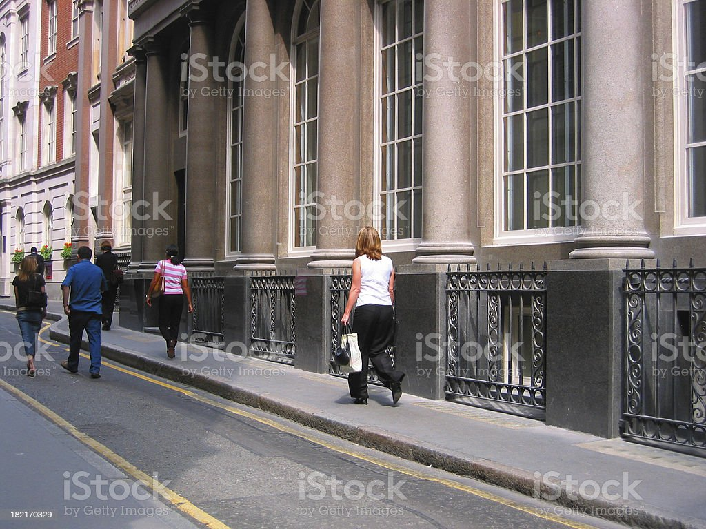 People on a Street royalty-free stock photo