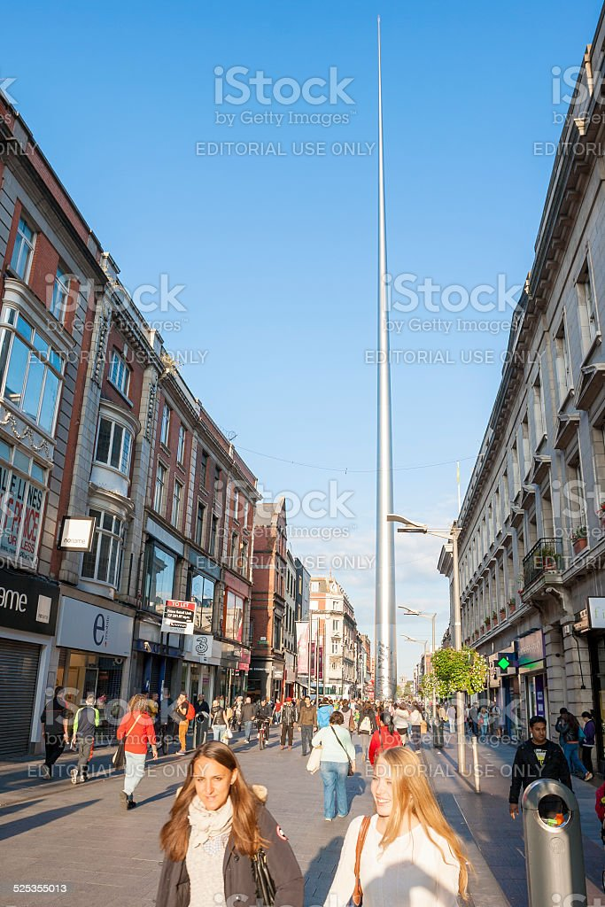 People on Henry Street stock photo