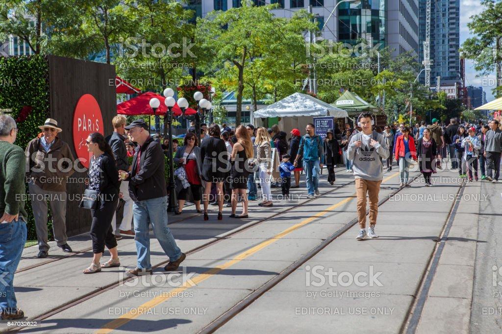 People on King Street During TIFF 2017 stock photo