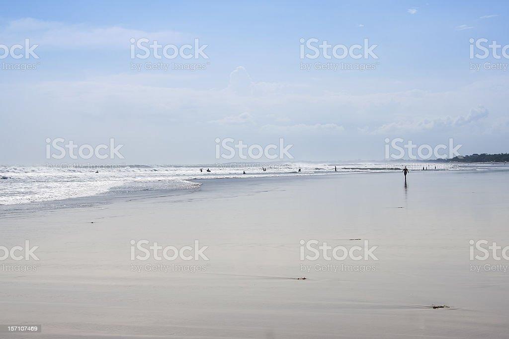 people on kuta beach bali indonesia royalty-free stock photo