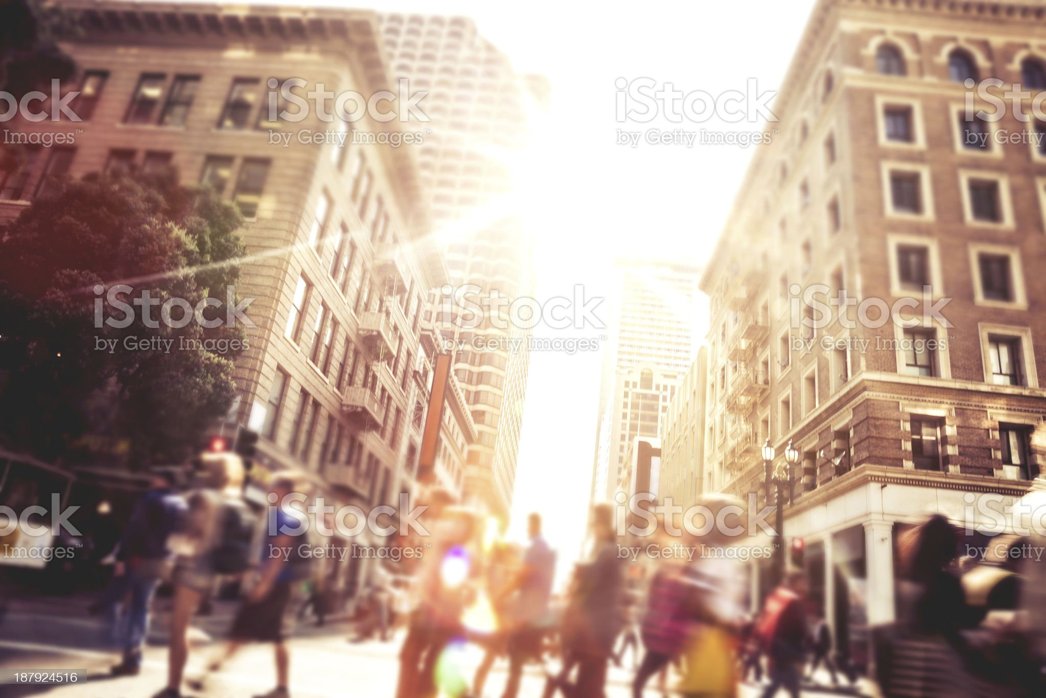 People on street of downtown San Fransisco royalty-free stock photo