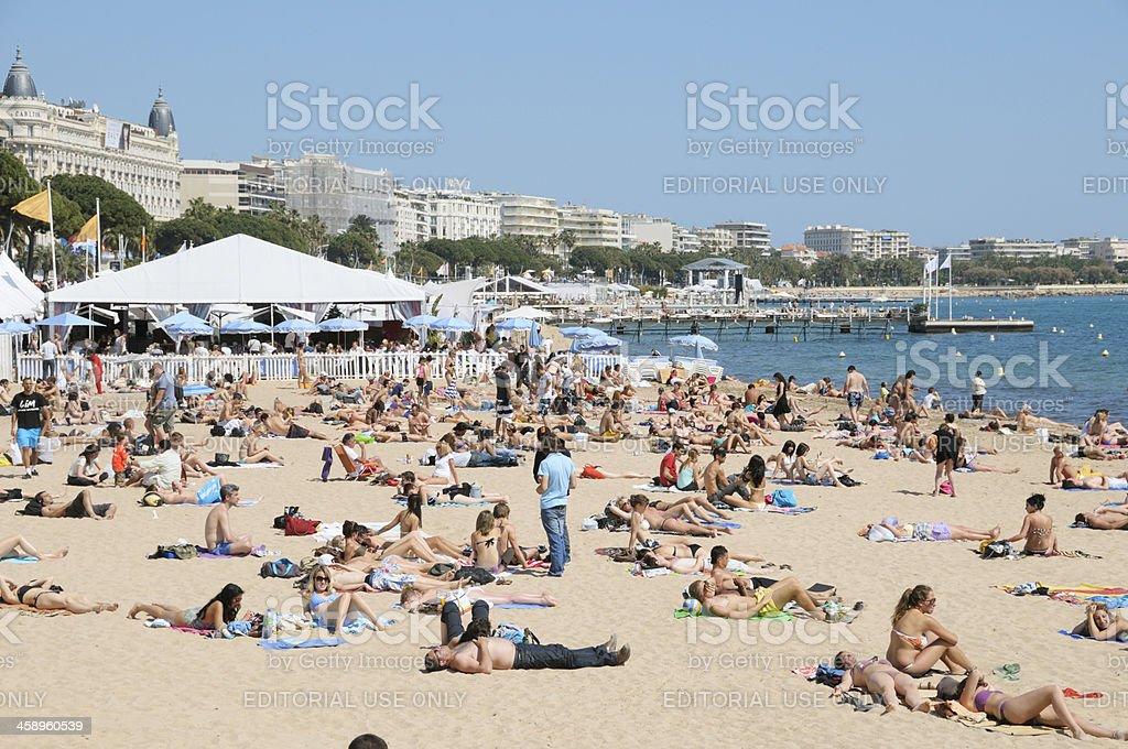 People on the beach royalty-free stock photo