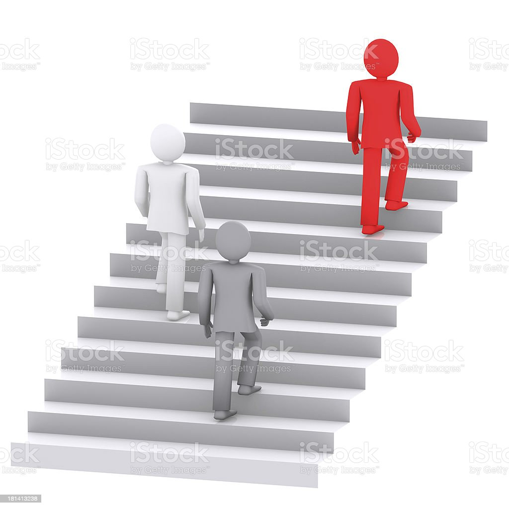 people on the career ladder royalty-free stock photo