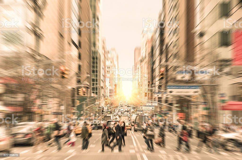 People on the street in Manhattan - New York City stock photo