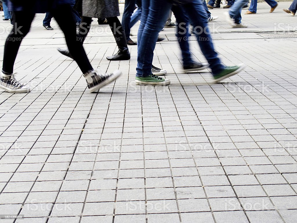 People on the street royalty-free stock photo