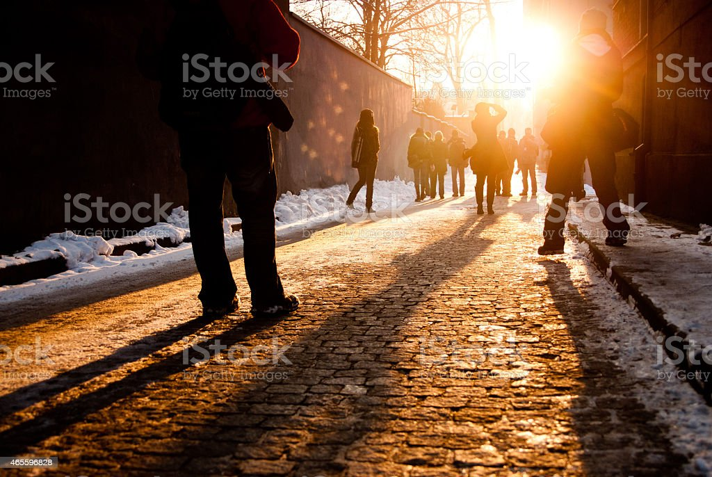 People on the street stock photo
