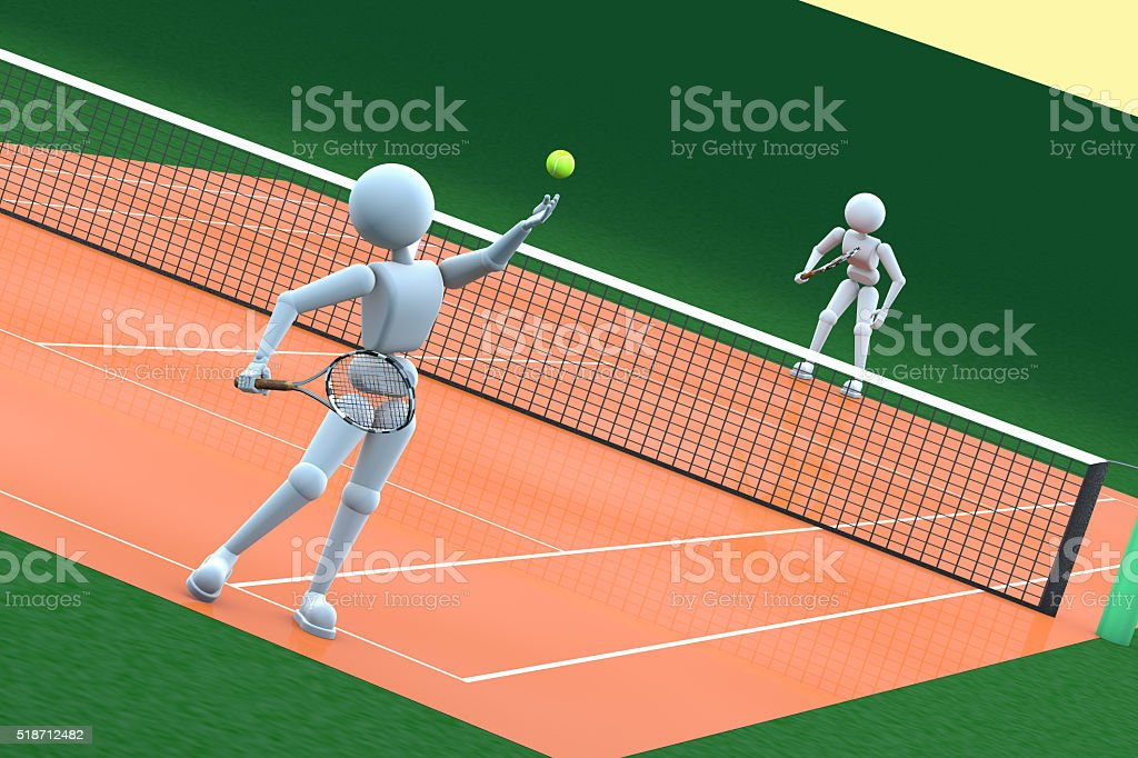 people on the tennis court stock photo