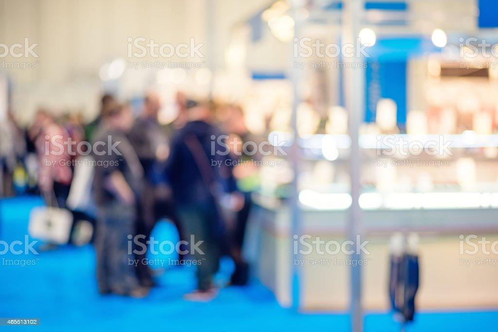 People on tradeshow stock photo