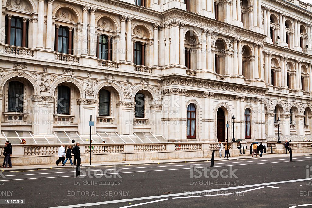 People on Whitehall street royalty-free stock photo