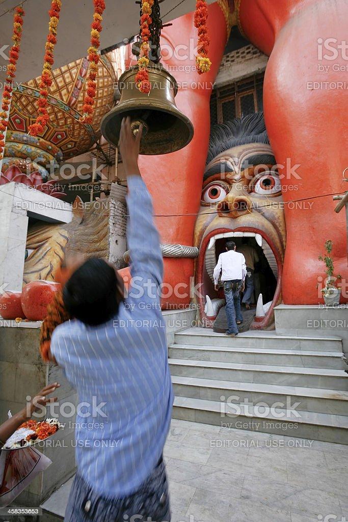 People outside Hanuman temple royalty-free stock photo