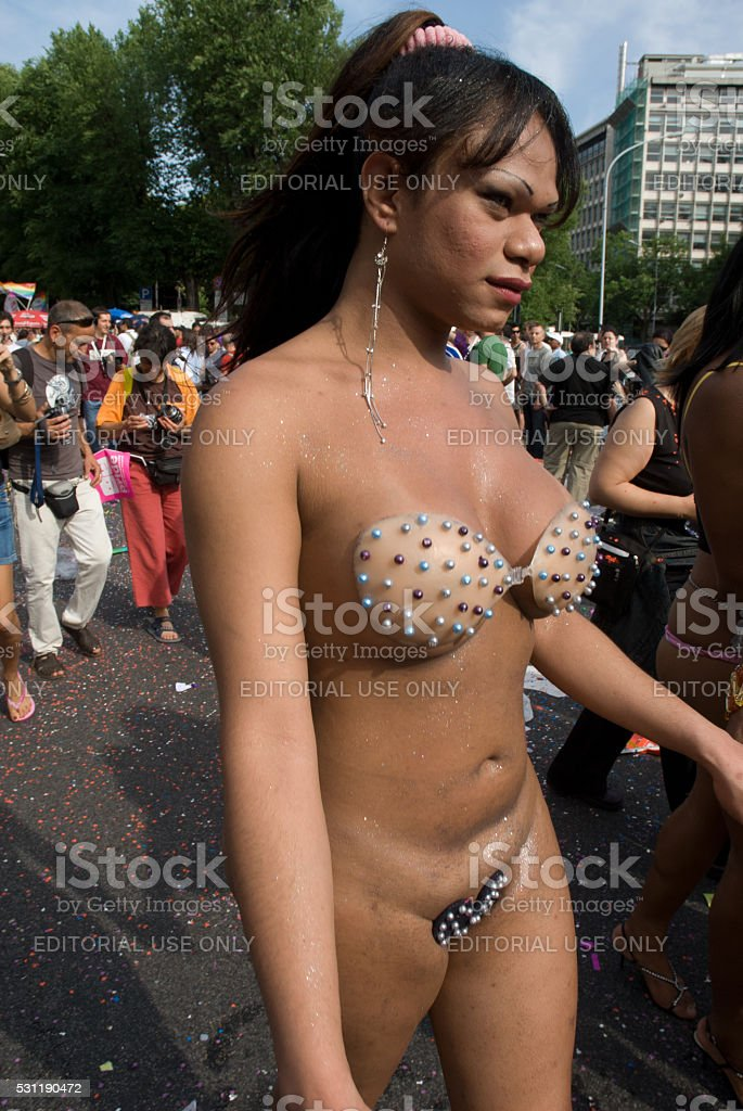 People partecipating at 2007 Rome gay pride stock photo
