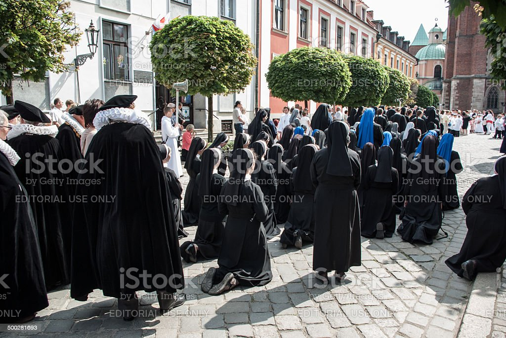 People Participating in Religious Celebration royalty-free stock photo