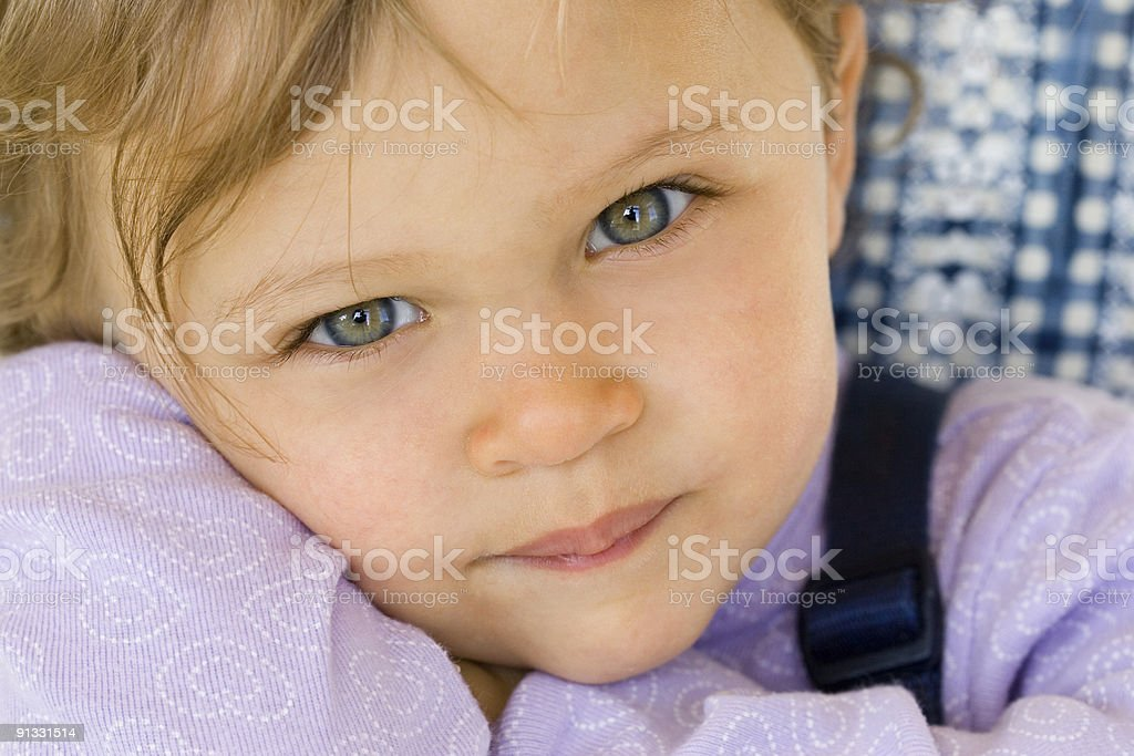 People - Pensive Toddler stock photo