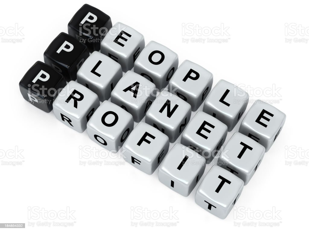 People Planet and Profit royalty-free stock photo