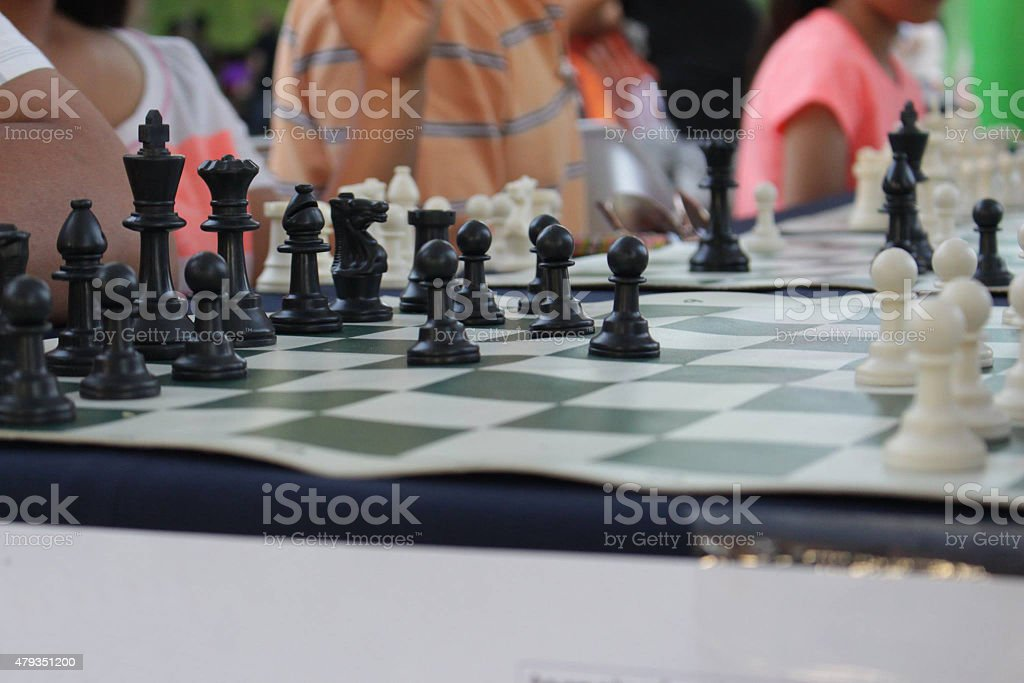 People playing chess in public 2 royalty-free stock photo