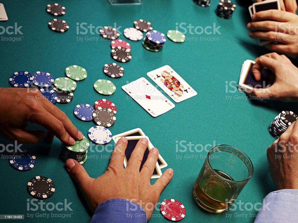 People playing poker royalty-free stock photo