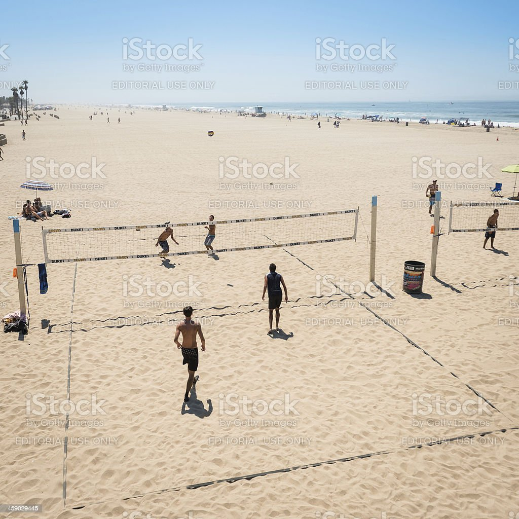 Huntington beach california stock photos and pictures getty images - People Playing Volleyball On Huntington Beach California Royalty Free Stock Photo